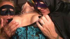 Enormous Clit Masked MILF Jizzes Like Crazy In Trapeze Swingclub