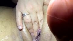 Playing With Home Made Clit Fill