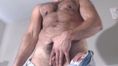 Hairy Muscular FTM TransMan Shows Us Off Huge Clit Tool And Pussy