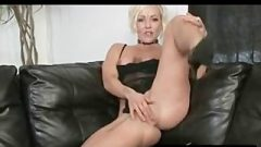 Blonde Uses Rubber Toy To Spunk