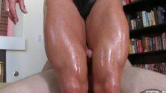 Ashlee: Slave Destroys Muscular Legs