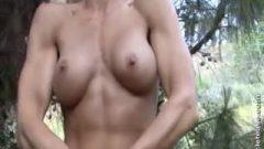 Flirtatious Muscle Girl