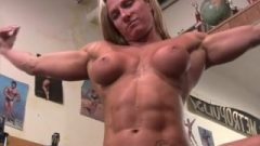 Naked Female Bodybuilder Shows Us Off Huge Clit