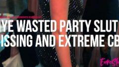 Nye Party Bitch Public Pissing, Brutal Cbt, Massive Clit Orgasm (full)